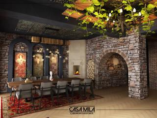 VENKA Yapı – Sedef Restoran:  tarz Duvarlar,