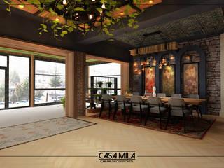 VENKA Yapı – Sedef Restoran:  tarz Koridor ve Hol,