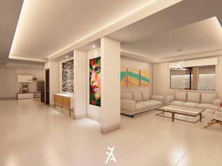 Minimalist corridor, hallway & stairs by FA Arquitectos Minimalist