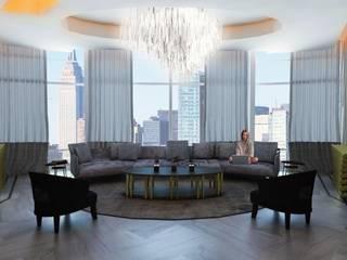 Modern Living Room by FA Arquitectos Modern