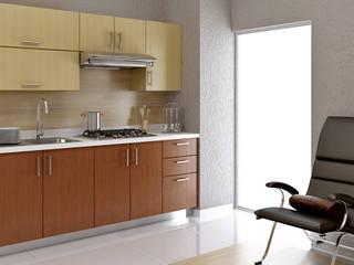 """Cocina tipo """"Paquete"""" Gamma Baños y Cocinas Integrales CocinaAlmacenamiento y despensa Aglomerado Acabado en madera"""