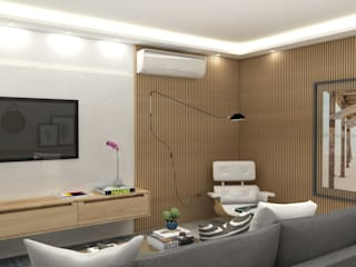 Arquiteto Virtual - Projetos On lIne Modern living room Wood