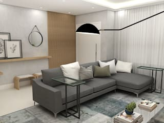Arquiteto Virtual - Projetos On lIne Modern Living Room Wood Grey