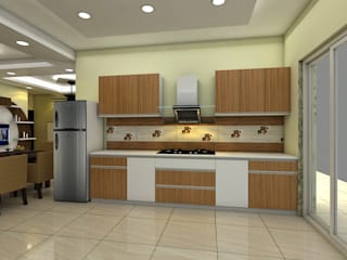置入式廚房 by Saraswati Interior, 古典風