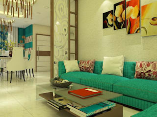Jamali interiors Asian style living room by Jamali interiors Asian