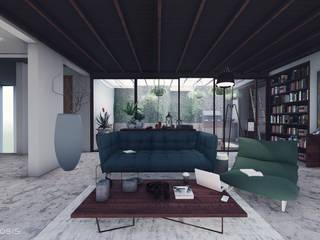 غرفة المعيشة تنفيذ Anastomosis Design Lab,