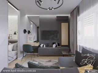 Salon de style  par Студия дизайна интерьера и архитектуры 'КПД, Scandinave