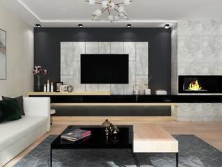 Özcihan pınar – Salon tasarımı: modern tarz , Modern