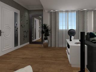 Proposta para um sala de estar de pequenas dimensões, Cascais Salas de estar modernas por DIANA MATEI INTERIOR DESIGN Moderno