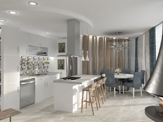 """Proposta para a """"House of Fuzeta"""" Algarve (arq.Miguel Arruda) Salas de estar modernas por DIANA MATEI INTERIOR DESIGN Moderno"""