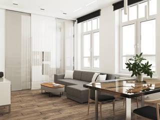 Salas / recibidores de estilo  por Катерина Колмыченко, Minimalista