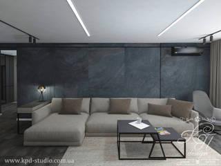 Salon de style  par Студия дизайна интерьера и архитектуры 'КПД, Éclectique