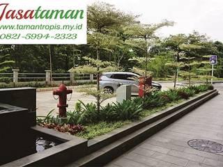 Jasa taman banjarmasin 082159942323 JASA TAMAN Ruang Komersial Tropis Bambu Green
