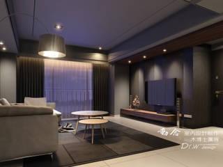 海宴:  客廳 by 木博士團隊/動念室內設計制作