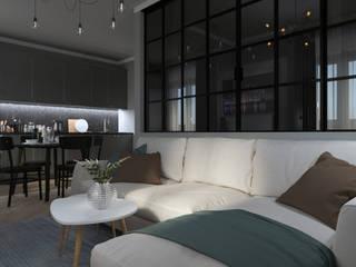 2-комнатная квартира в ЖК Облака г.Энгельс Гостиная в стиле модерн от Molyako Design Модерн