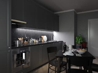2-комнатная квартира в ЖК Облака г.Энгельс от Molyako Design Модерн