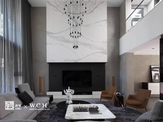淬鍊光域:  客廳 by 森境室內裝修設計工程有限公司,