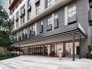 Lot Studıo Mimarlık – Kağıthane Yüksek Katlı Konut:  tarz Apartman,