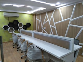 OFFICE-project Indirapuram Modern study/office by SHUFFLE DESIZN Modern