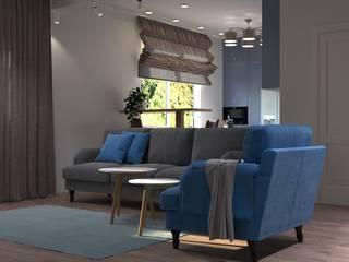 3-к квартира, 5-я Дачная, г.Саратов Гостиная в стиле модерн от Molyako Design Модерн
