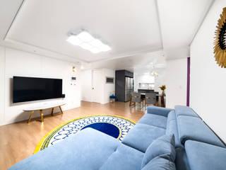 30평 아파트 홈스타일 모던스타일 거실 by 제이미홈스타일링 모던