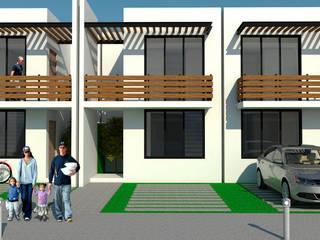 Prototipo de vivienda unifamiliar en un terreno de 5 x 20 m de REA + m3 Taller de Arquitectura Moderno
