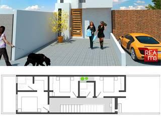 Prototipo de vivienda unifamiliar en un terreno de 5 x 20 m de REA + m3 Taller de Arquitectura