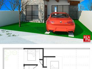 Prototipo de vivienda unifamiliar en un terreno de 8 x 16 m de REA + m3 Taller de Arquitectura