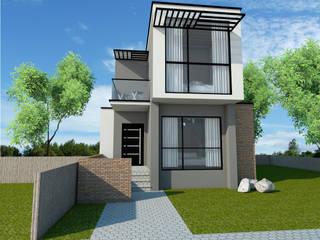 Prototipo de vivienda unifamiliar en un terreno de 7 x 15 m de REA + m3 Taller de Arquitectura
