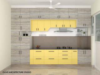 Kitchen Olive Architecture Studio Kitchen units Plywood Yellow
