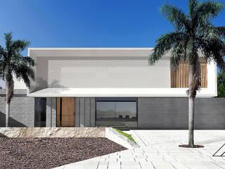 Diseño de casa residencial de lujo en Marbella estilo minimalista con piscina. de AMSR ARQUITECTOS en Málaga