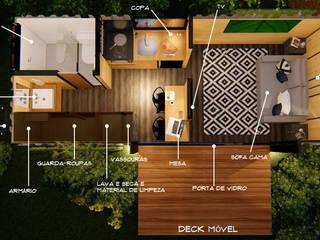 Giselle Wanderley arquitetura Ruang Keluarga Minimalis Kayu White