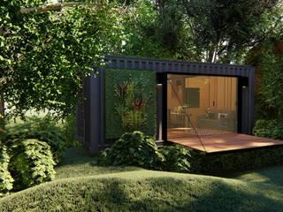 Giselle Wanderley arquitetura Rumah kecil Besi/Baja Grey