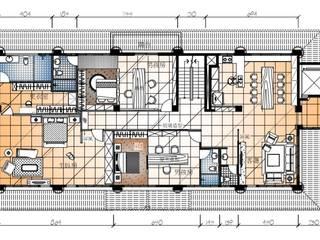 2樓空間平面圖: 亞洲  by 台中室內建築師|利程室內外裝飾 LICHENG, 日式風、東方風