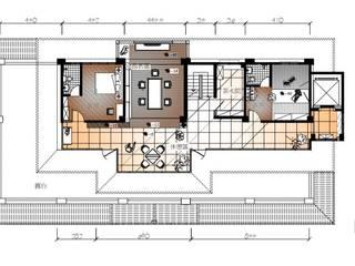 3樓空間平面圖: 亞洲  by 台中室內建築師|利程室內外裝飾 LICHENG, 日式風、東方風