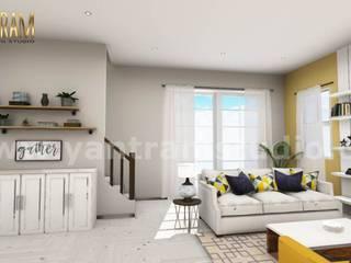 3D Interior Kitchen & Living room Design of Virtual Reality Real Estate Companies by 3D Architectural Design, Malta – Europe Klasik Oturma Odası Yantram Architectural Design Studio Klasik