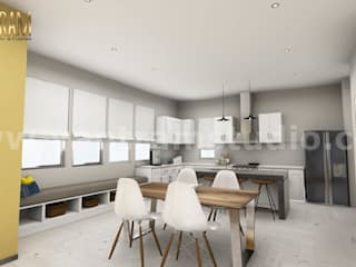 3D Interior Kitchen & Living room Design of Virtual Reality Real Estate Companies by 3D Architectural Design, Malta – Europe Yantram Architectural Design Studio Modern