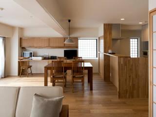 奈良法蓮町のマンションリフォーム モダンデザインの ダイニング の 一級建築士事務所 ノセ設計室 モダン