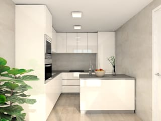 Propuestas de amueblamiento de una cocina de TRES ANIMACIÓN S.L.