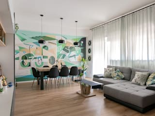 Living room by Facile Ristrutturare,
