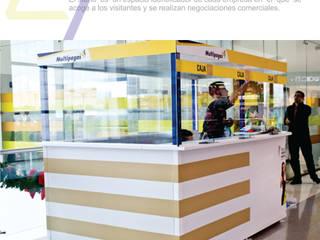 Diseño y fabricación stands comerciales:  de estilo industrial por Arte ligero colombia, Industrial