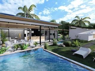 Eco Villa Tropikal Havuz HePe Design interiors Tropikal