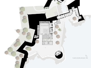 Concurso Forte de Peniche Casas modernas por HAS - Hinterland Architecture Studio Moderno