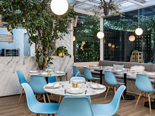 PASQUINEL Studio Gastronomi Gaya Eklektik Marmer White