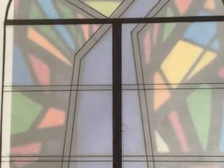 par Vitrales Emplomados Vidrio y Plomo Moderne