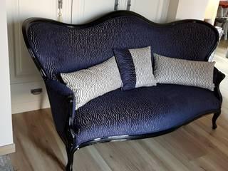 canapé bleu par Decoration Christine Classique