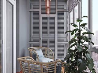 Уютный балкон: балконы в . Автор – DesignNika