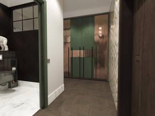 квартира холостяка Коридор, прихожая и лестница в эклектичном стиле от Шамисова Анастасия Эклектичный