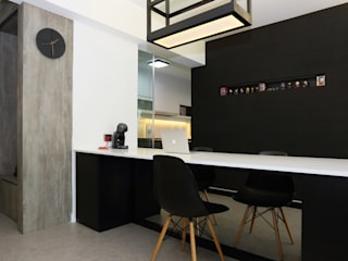 Resale HDB in Monochromatic Style Full of Personality! Monoloft Minimalist dining room Black