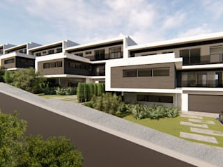 Imagens casas em série por Mira3D concept Moderno